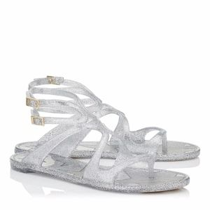 Jimmy Choo Women's Metallic Lance sandals US sz 11